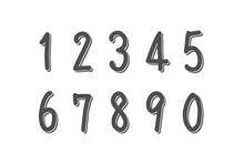 数字、見出し、ポイントのイラストセット(手描き風、重ね塗りバージョン)