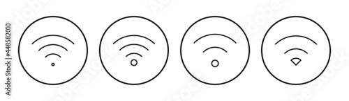Billede på lærred Wifi icon set. signal vector icon. Wireless  icon vector