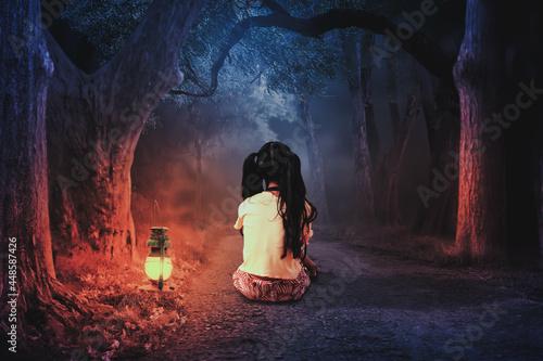 Slika na platnu A young girl wanders into the forest