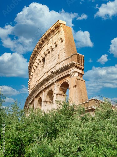 High section colosseum or coloseum in Rome Italy daytime Fototapete