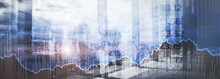 Stock Online Trading Data Market Financial. Mixed Media Concept