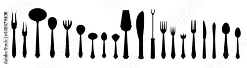 Fotografering Black cutlery