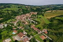 Aerial View On Saint Antoine L'abbaye