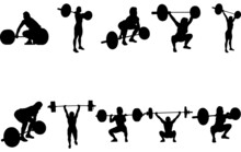 Woman Weightlifting Silhouette Vector