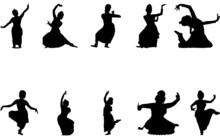 Kuchipudi Dance Silhouette Vector