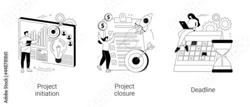 Fotografie, Obraz Project lifecycle abstract concept vector illustrations.