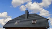 Dom,  Budynek, Dach Z Blachodachówką.