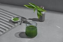 Spirulina Water And Powder Healthy Dietary Supplement