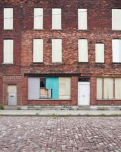 Old Closed City Brick Building