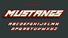 Red Chrome Vibrant Futuristic Sports Typography