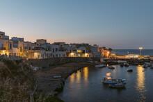 Quaint Seaside Village At Sunset