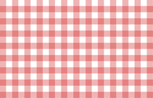 Red Gingham Fabric Square Checkered Seamless Pattern Vintage Background Vector