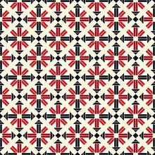 Japanese Red Diamond Weave Vector Seamless Pattern