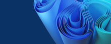Abstract Background With Blue And Turquoise Curves