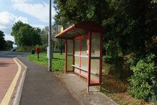 Typical Rural Bus Stop And Shelter In The UK