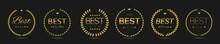 Best Film Golden Laurel Wreath Label Set