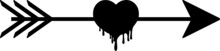 Arrow With Heart Love Svg Vector Cutfile For Cricut And Silhouette For T Shirt Design Banners And Posters