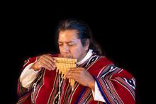 Ecuadorian Indigenous Andean Musician