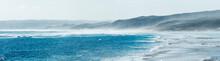 Waves Breaking On Rocky Reef