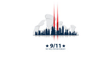 Patriot Day USA. We Will Never Forget. September 11