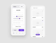 Mobile App Interface Design For Hotel Booking Or Social Media. Use Design For Web Application Or Mobile App.