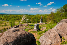 Spring View Of The Battlefield From Little Roundtop, Gettysburg, PA.