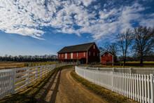 Photo Of Battlefield Barns Under A Winter Sky, Gettysburg National Military Park, Pennsylvania USA
