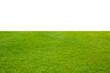 Leinwandbild Motiv green grass isolated on white