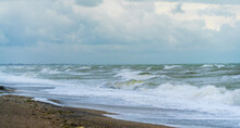 Big Waves On The Black Sea. A Storm Off The Coast Of Yevpatoria .Crimea.