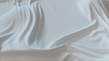 White Fabric With Wrinkles And Folds. Smooth Surface Wallpaper.
