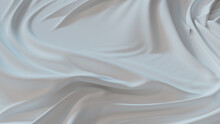 White Fabric With Ripples And Folds. Smooth Surface Wallpaper.
