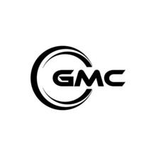 GMC Letter Logo Design With White Background In Illustrator, Vector Logo Modern Alphabet Font Overlap Style. Calligraphy Designs For Logo, Poster, Invitation, Etc.