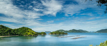 瀬戸内海に面した、山口県 笠戸島の入り江