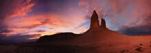 Western Kazakhstan. Ustyurt Plateau. Sunrise On The Rocky Outcrops Of Bozzhira.