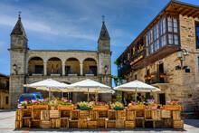 View Of Main Square In Old Town Puebla De Sanabria In Castile And Leon, Spain.