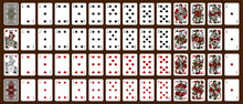 Poker Set With Isolated Cards - Classic Playing Cards - Poker Playing Cards, Full Deck - Release 1885.