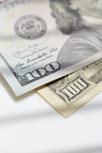 Close-up Of One Hundred Dollar Notes