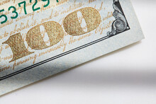 Close-up Of One Hundred Dollar Note