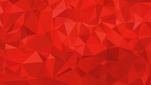 Abstract Ruby Low Poly Background. Abstract Red Low Poly Triangle Design For Background, Backdrop, Abstract Illustration.