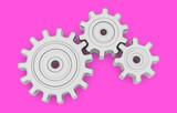 Fototapeta Przestrzenne - gears mechanism gear teamwork cooperation 3D