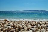 Fototapeta Na sufit - plaża, kamienie, woda