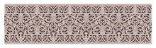 Stone Carving Of Seamless Motif Pattern Isolated On White Background