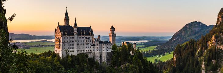 Panorama castello di Neuschwanstein