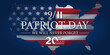 Leinwandbild Motiv Patriot Day