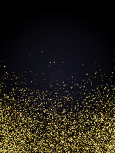 Festive Christmas And New Year Background With Gold Glitter Or Confetti Of Stars. Vector Illustration.