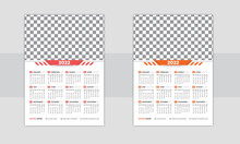 Print Ready One Page Wall Calendar Template Design For 2022, Week Starts On Sunday Calendar Design 2022, Print Ready Singlepage Wall Calendar Template Design For 2022, Planner Diary With Place For Pho