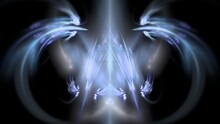 Beautiful Digital Symmetric Fractal - Cosmic Energy With Vibrant Flowing Lines And Soothing Pastel Colors.