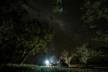 Campsite Under Starry Night