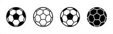 Soccer Ball Icon. Football Simple Black Style, Vector Illustration.