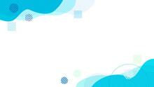 青色の抽象幾何学曲線のフレーム背景